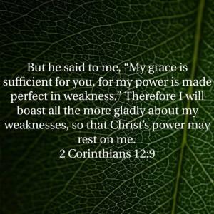 2 Cortinthians 12:9