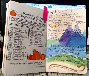 Thanksgiving Scripture Writing Plan + Day 1